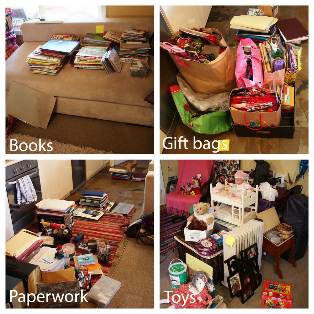 decluttering home office