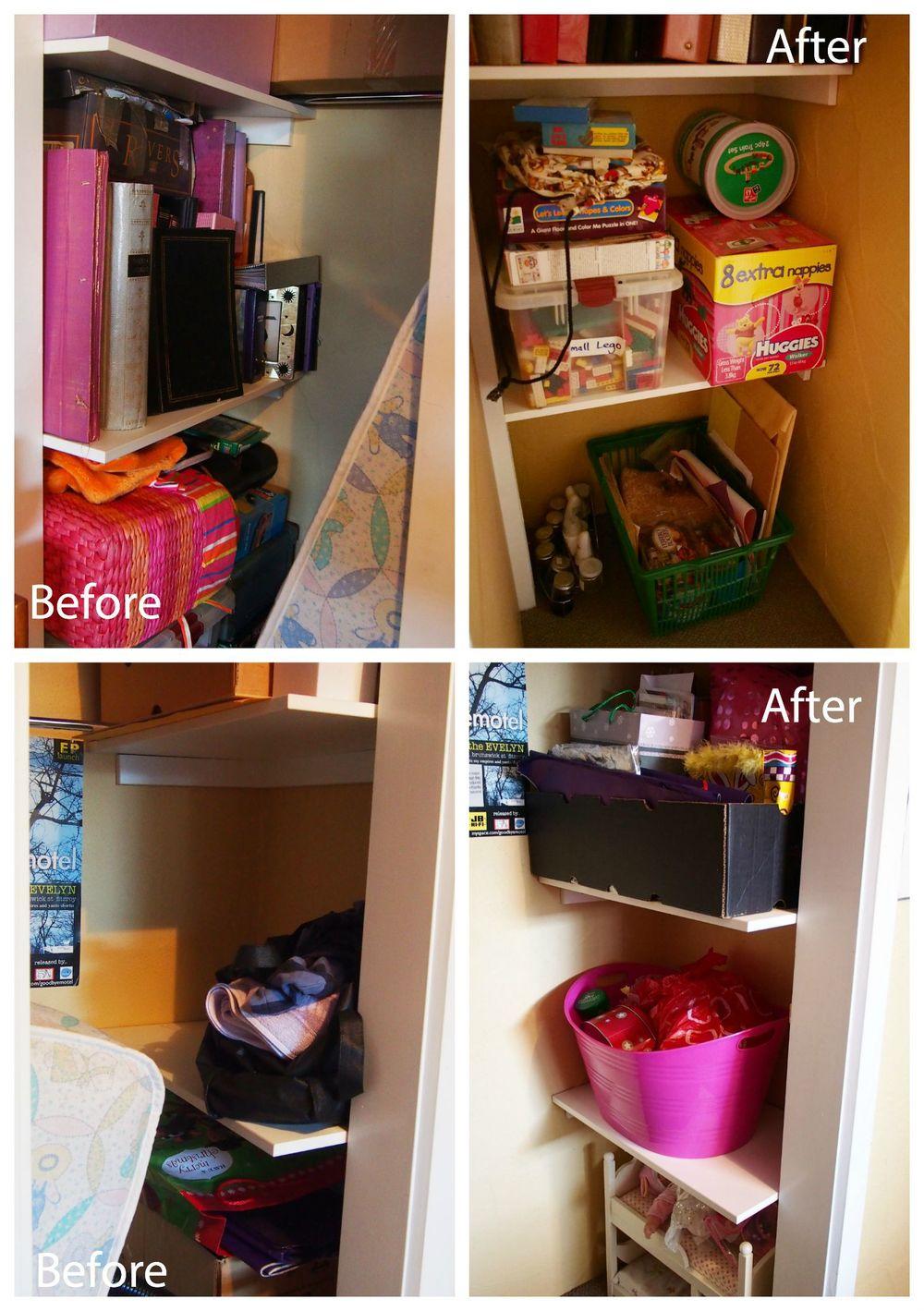 cupboard declutter home office