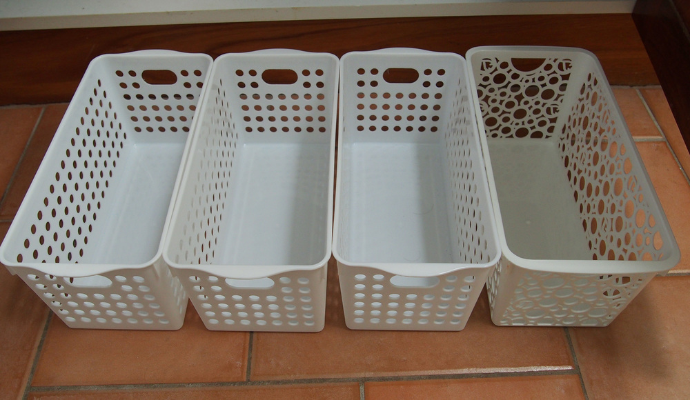 baskets storage solution for organising bathroom vanity