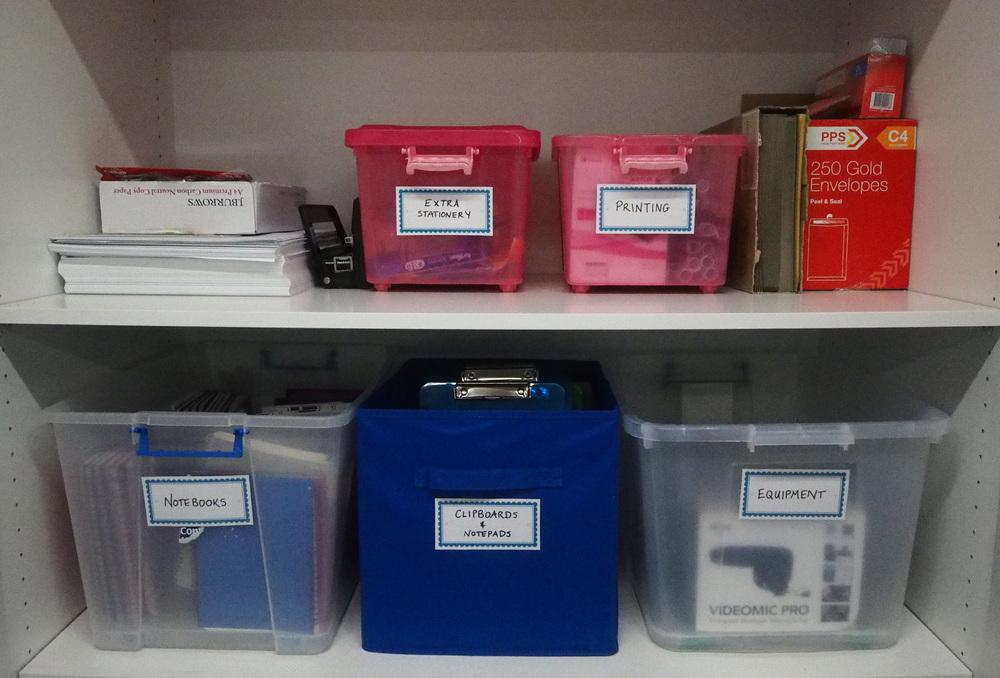 storage cupboard organisation