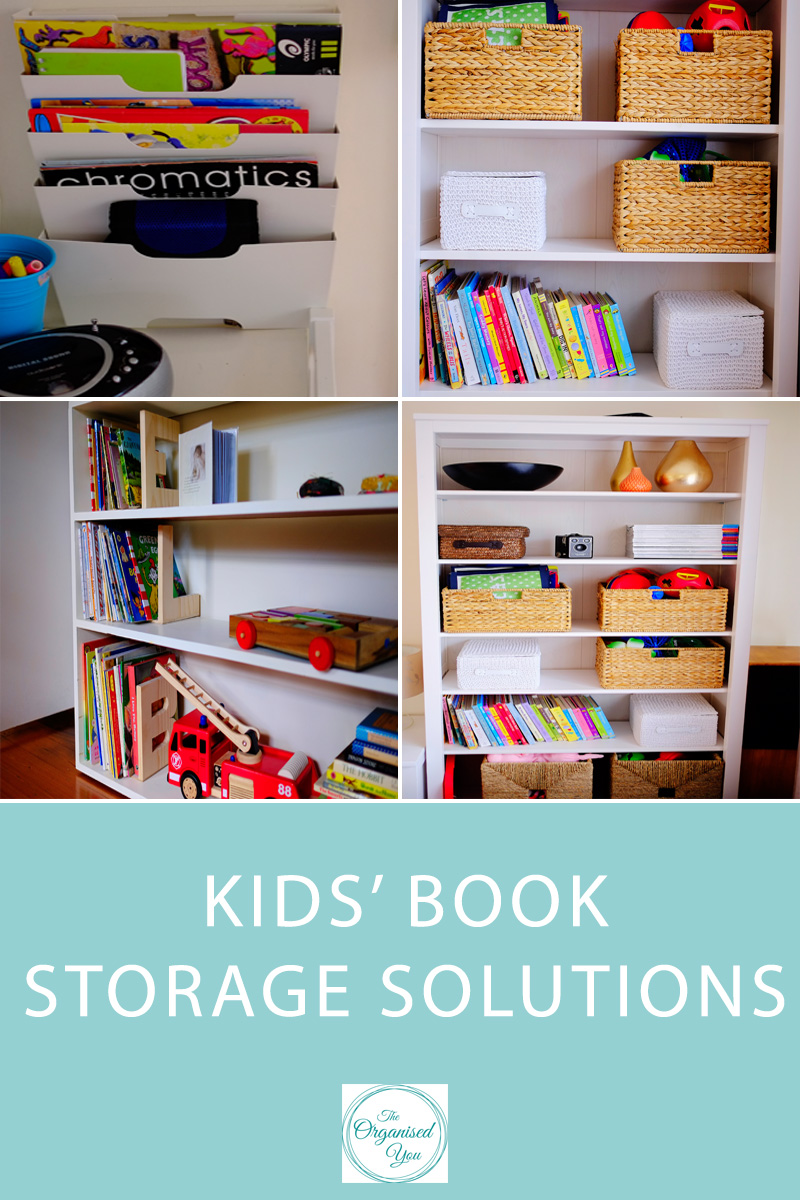 Book storage solutions for kids - ways to organise the books in different areas of your house so your kids can easily access reading material. This guide is perfect for busy mums who need to keep their books organised and easy to maintain for their kids. Click through for the free checklist on different ideas for categorizing books