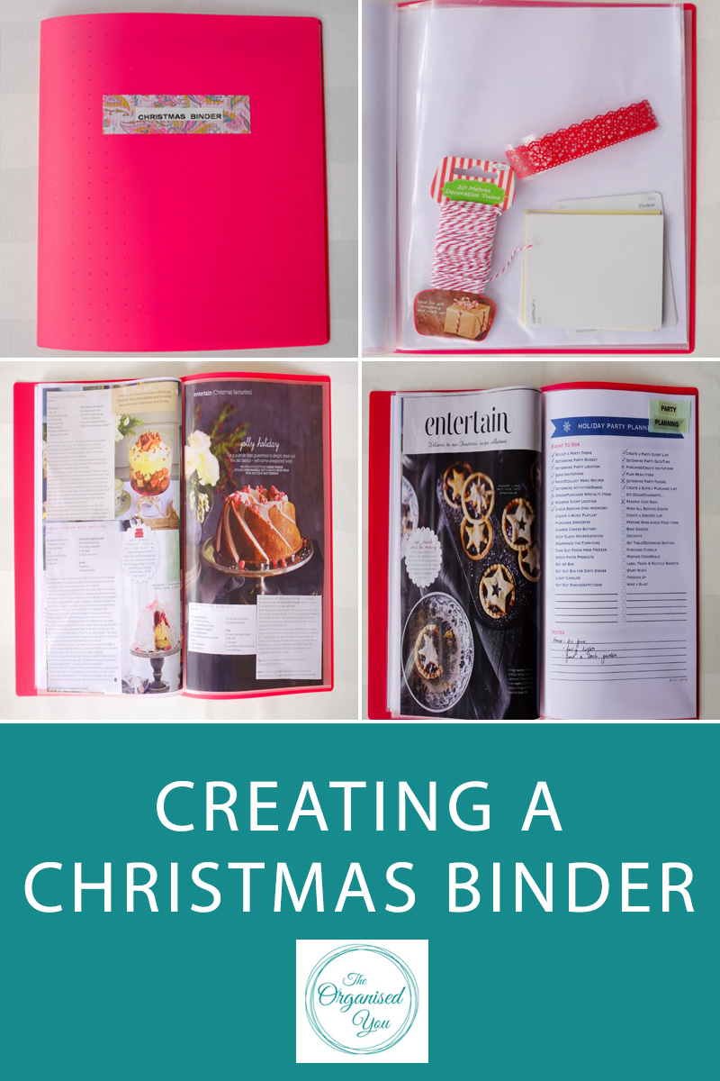 Creating a Christmas Binder - a Christmas planner is the perfect way to keep you organised and on track during the busy season. Stay organised at Christmas with lists, budget planner and party planning. Click through to read the full post on how I stay organised at Christmas!