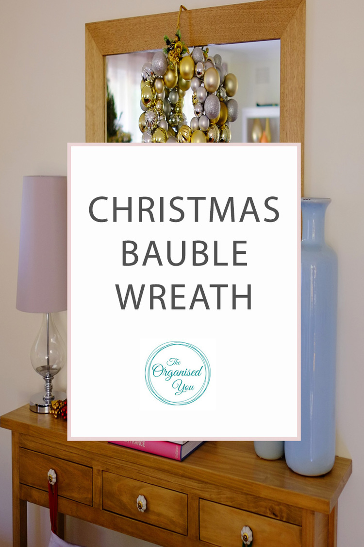 Christmas bauble wreath blog home organisation the organised you diy christmas bauble wreath do you like to get creative at christmas time and make solutioingenieria Images