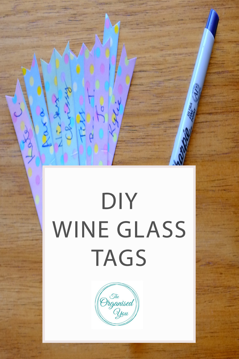 photo relating to Printable Wine Glass Tags identified as Do-it-yourself wine gl tags-Blog site Residence Organisation-The Organised Oneself