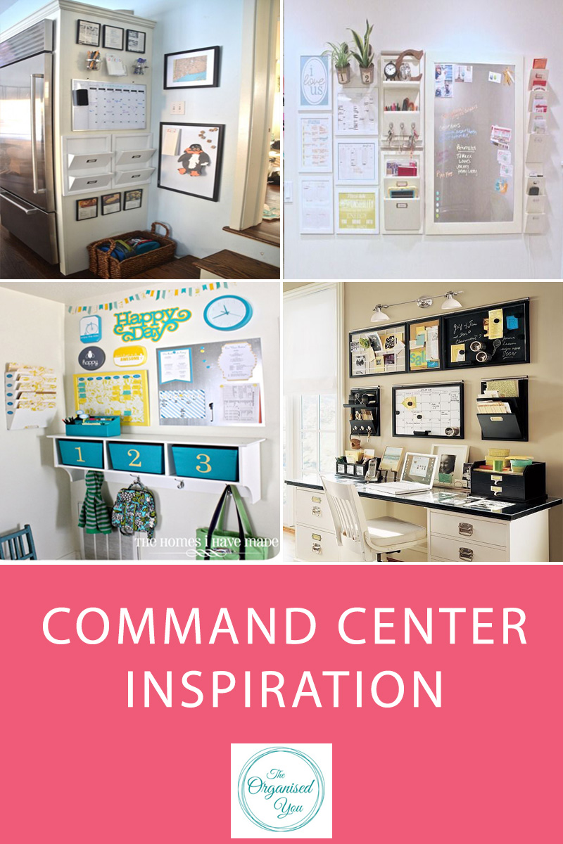 Command Centre Inspiration - a family command center is the perfect place for keeping you and your family organised. A central place in the home to deal with paperwork, share calendars, messages and information helps to keep everyone on track and all the bits and pieces organised. Click through for some serious command center inspiration!