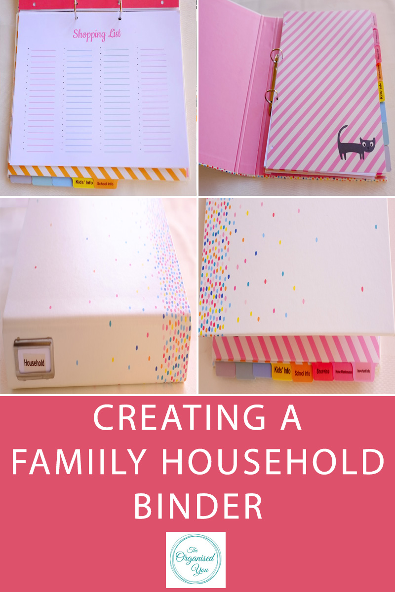Creating a Family Household Binder - a household binder is the perfect way to keep your family organised. A central place to house all the important information such as contact numbers for different areas of your life, including medical, school, banking etc. It's also a great place to hold all the school and home info. Click through to read how I set our family household binder up!