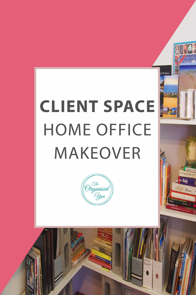 Client Space - Home Office Makeover - this fun makeover of a home office shows the power of decluttering and really organising a space to ensure it's working to it's full capacity. This post is perfect for people who work from home in a home office, as it shows how to set up workable systems for your paperwork, so the paper clutter is kept to a minimum and the home office can be a clean, organised space to work from