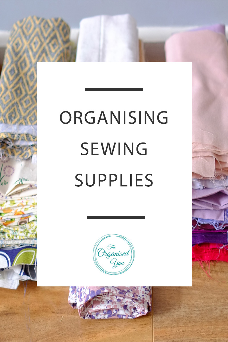 organised sewing supplies