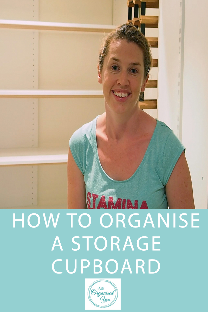 organised storage cupboard