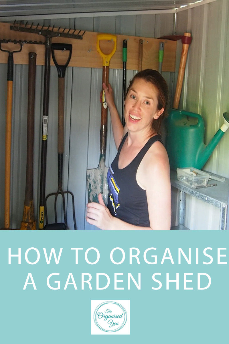 organised garden shed