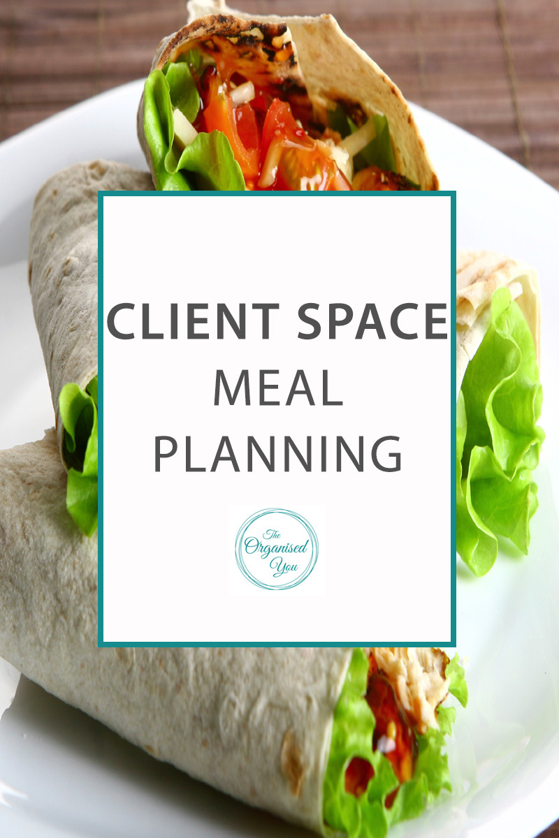 Client Space: Meal Planning - do you need help with your meal planning? Don't know where to start when it comes to thinking up what meals to have for the week, dinner categories and shopping lists? This post shows you exactly how I helped a client set up an 8-weekly meal plan so it was super-easy for her to plan and organise her evenings with her young baby and partner. Click through to read how we set it up!