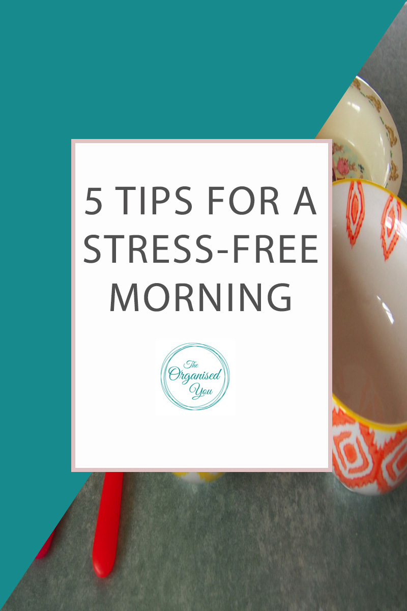 5 Tips for a Stress-Free Morning - are you constantly rushing around in the morning as you head out the door? With kids in tow, it can be tricky to get yourself organised and out the door on time! This post is perfect for busy mums who need some organising tips for a stress-free morning!