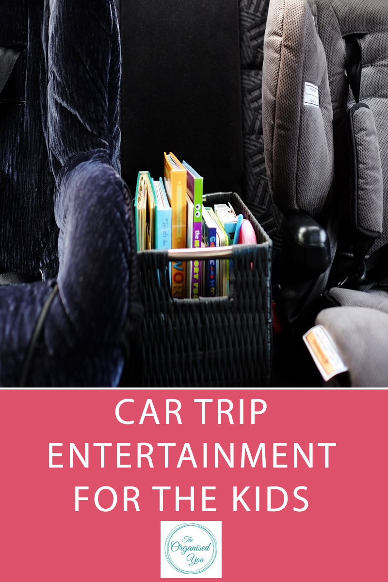 Car Trip Entertainment For Kids - keeping kids entertained on long (or even short!) journeys can sometimes be a challenge. Click through to read about the organised system I've set up in the car to keep the kids entertained....and relativelu quiet!