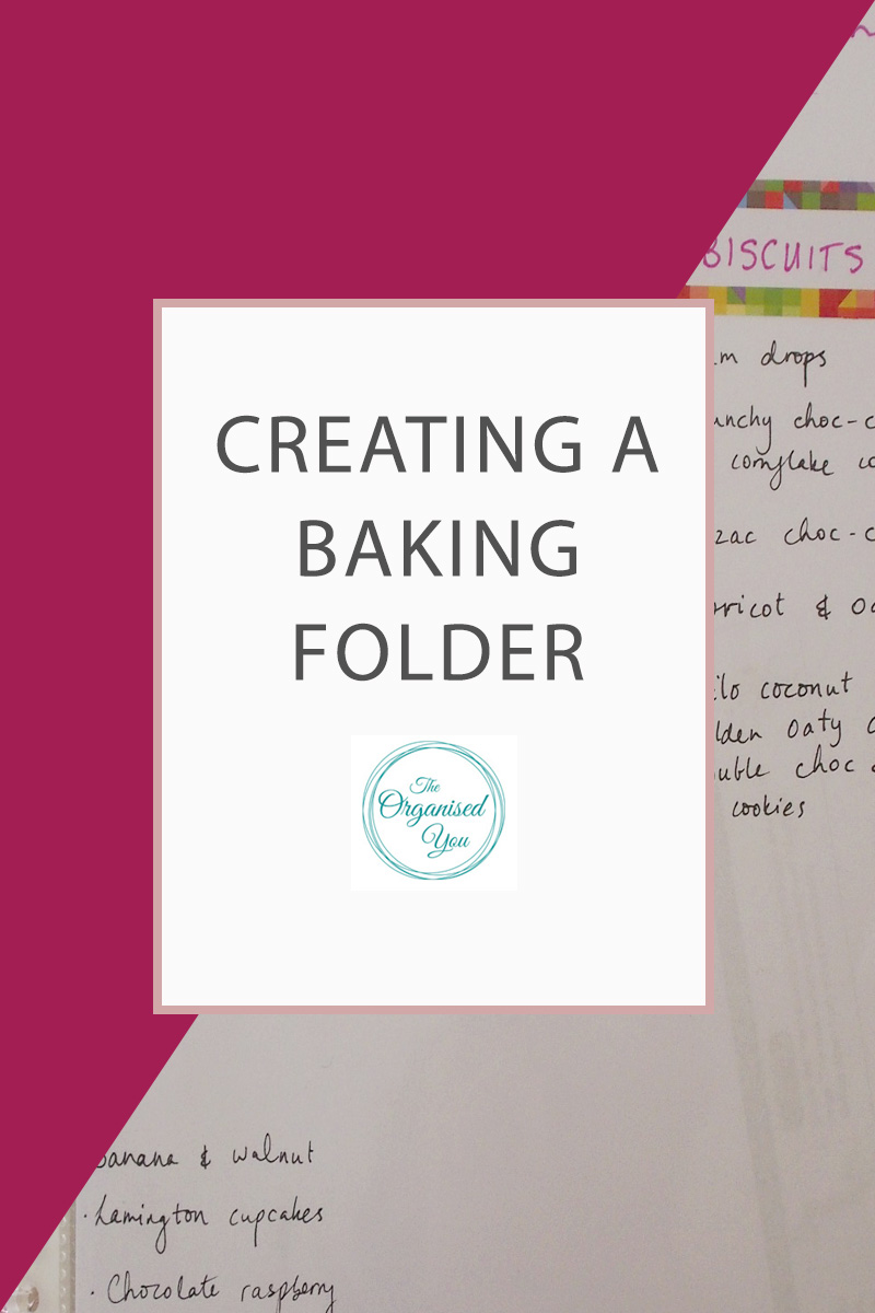 Creating a Baking Folder - if you enjoy doing a lot of baking, and get your recipes from the Web, it is sometimes easier to have them all in one, easy-to-access place so you can quickly refer to it. Click through to read how I created an organised baking folder with a collection of our favourite recipes, as well as links to all our favourites!