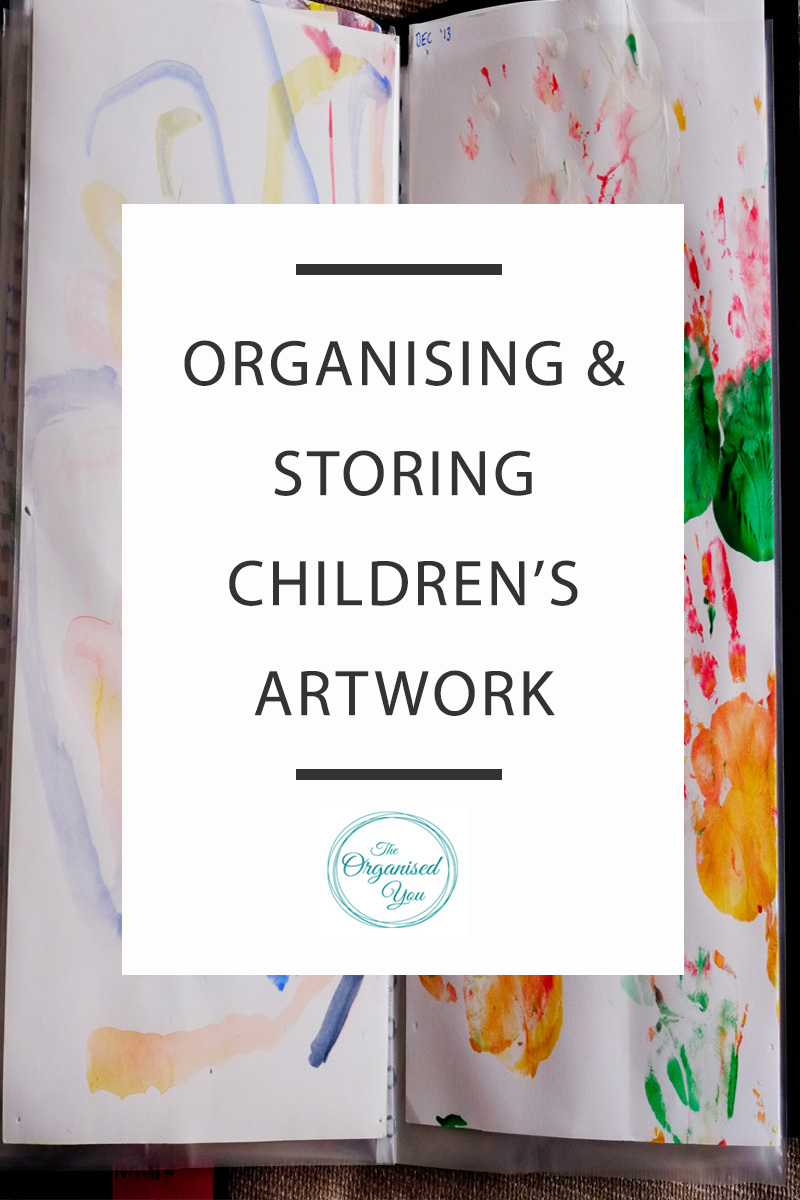 organising kids' artwork