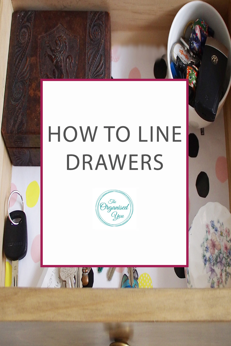 How to Line Drawers - lining drawers with decorative paper is a great way to add interest, make a more eye-catching display when you open the drawer, and also encourage you to keep it organised so you can see that pretty detail! Click through to read the step-by-step guide for lining drawers