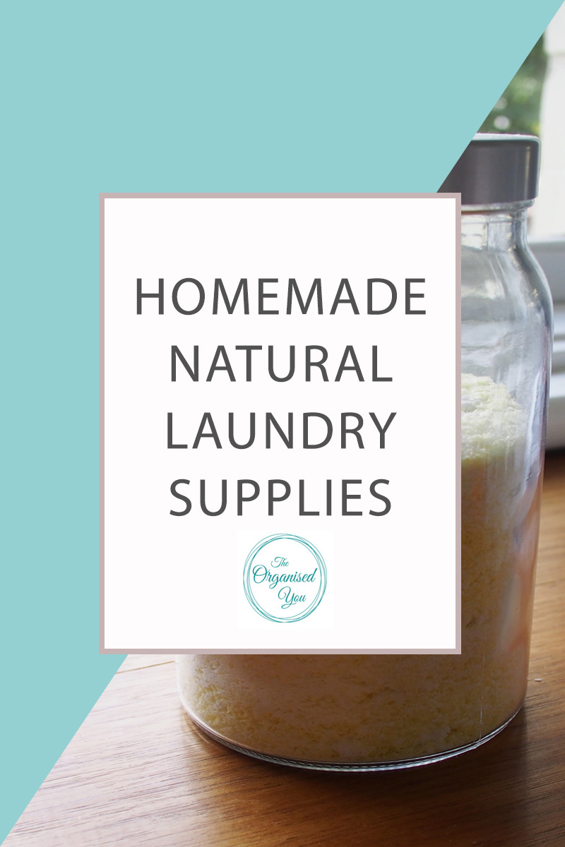 Homemade Natural Laundry Supplies - using a natural laundry powder is a great way to save money and cut down on the chemicals used in your home. This recipe cleans clothes beautifully and leaves them smelling fresh! Click through to read the full post on how I created this natural laundry powder, as well as a spray stain remover