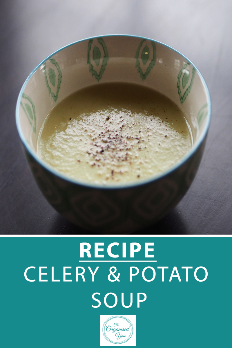Recipe: Celery & Potato Soup - soup is the perfect antidote to a big weekend or a much-needed health kick. Making a big batch for freezing is also a great way to stock up the freezer, and it can be bulked up with some easy additions. Click through for the free download to this delicious recipe!
