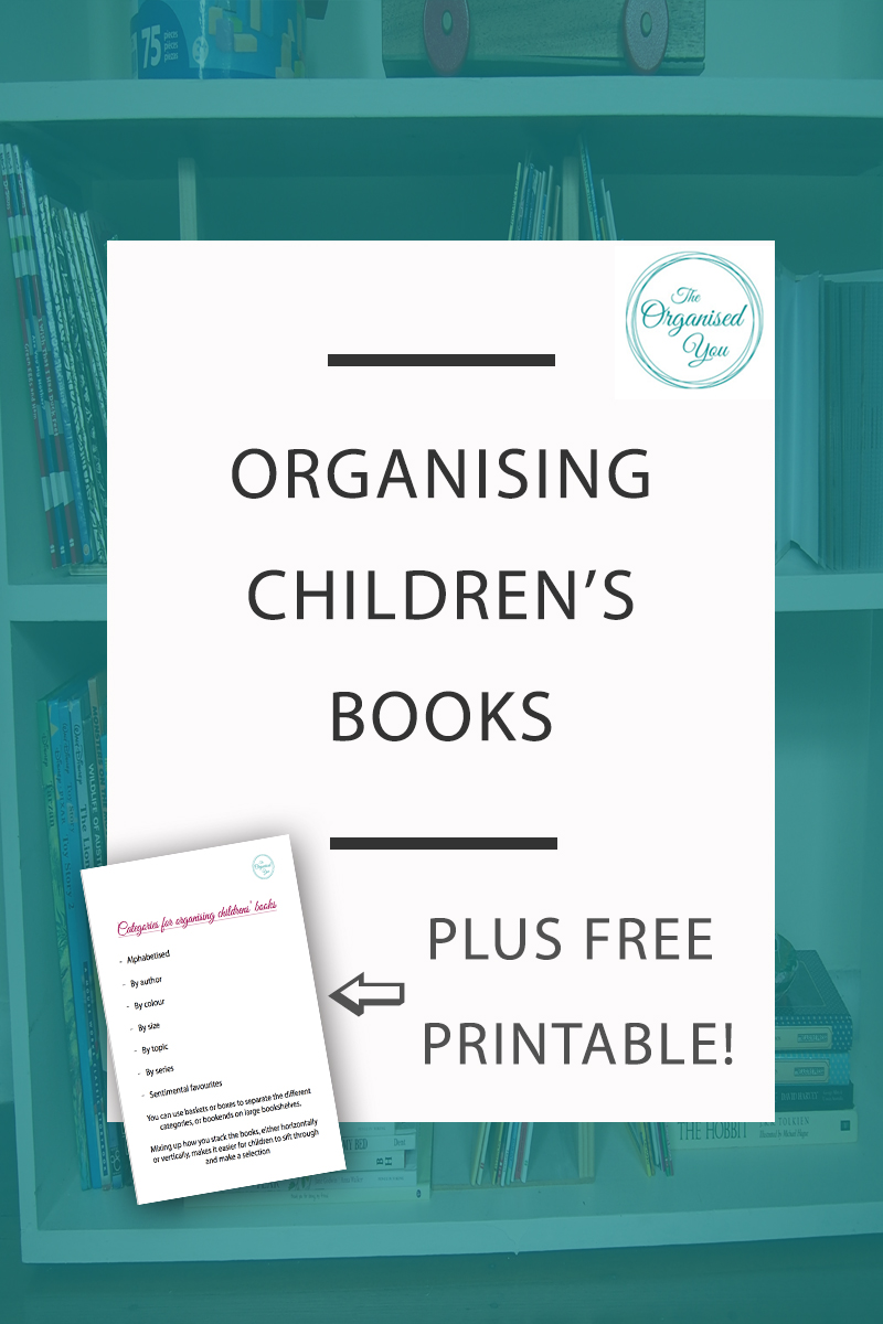 Organising Children's Books - categorizing and separating children's books on their shelves can make it easier for your kids to easily find the book they're after, and also read a wider range of books rather than always choosing the one they can see at the front of the pile. Click through for your FREE download of categories you could use to organise your children's books!