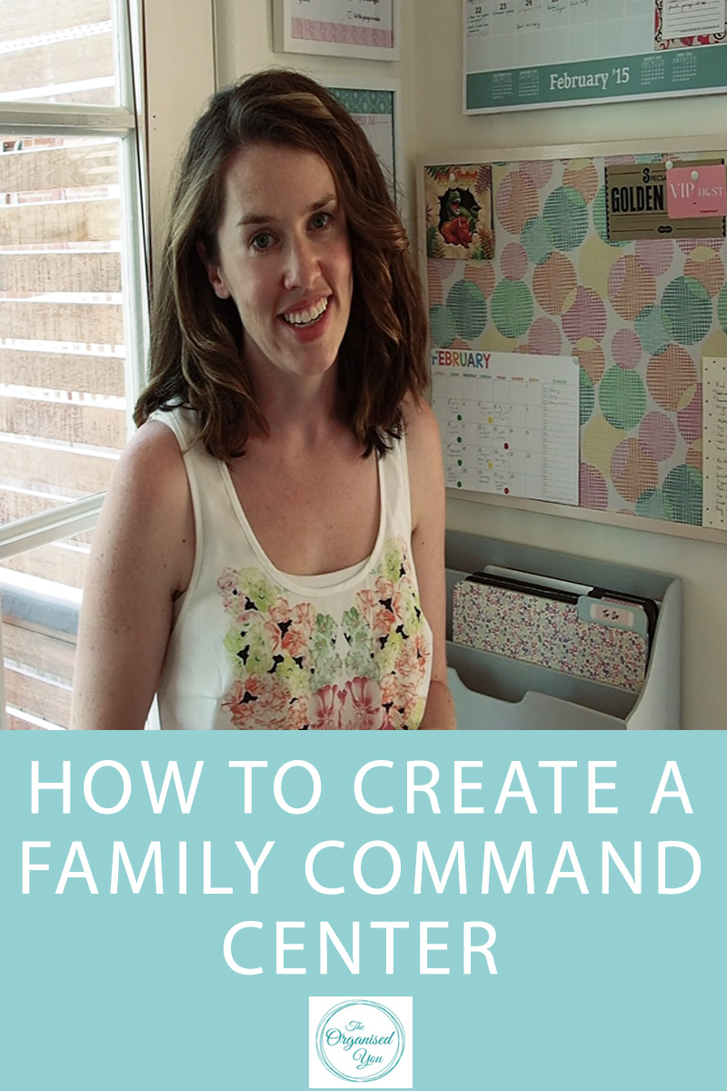 How to create a family command center in your home to house important information, calendars and schedules, notes and reminders so that everyone in the family is on the same page!
