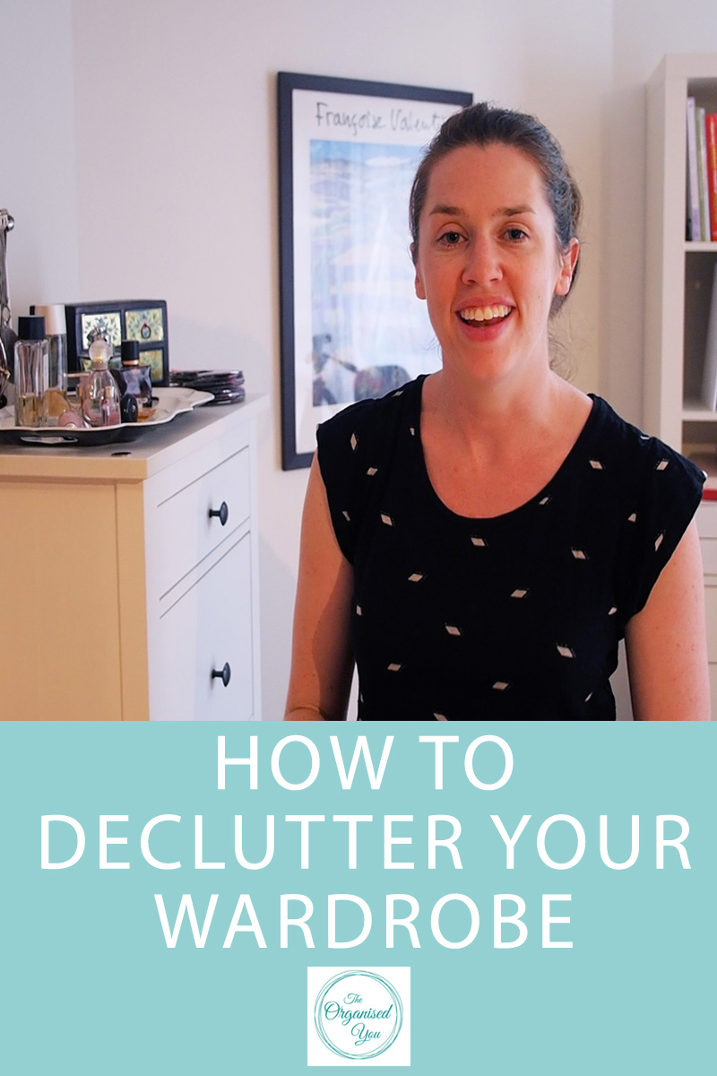 Video - How to Declutter your Wardrobe - a step-by-step guide for decluttering your wardrobe and setting up great storage to keep it looking great with everything easily accessible!