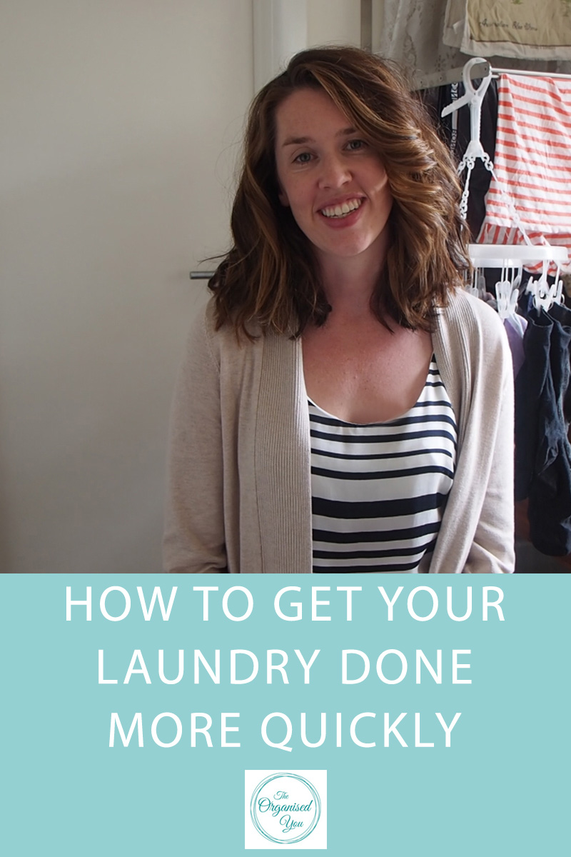 Video - how to get your laundry done more quickly - easy tips and ideas for getting through your laundry much faster!