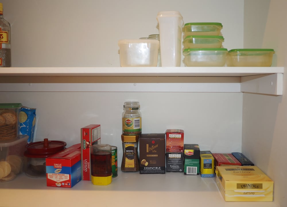 Organising the plastics - only put containers back that have a matching lid and is a size you can actually use. Click through for more organising tips and tricks for the pantry