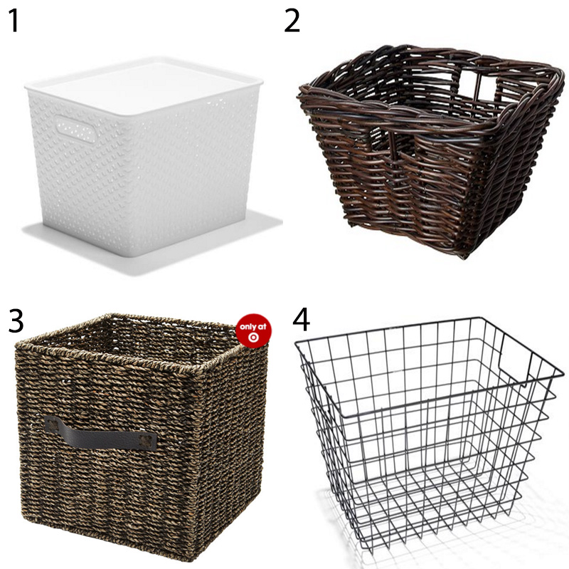 Storage baskets - baskets are great for hiding those more unsightly or less 'attractive' items in a pantry, and can easily be pulled in and out to access what you need