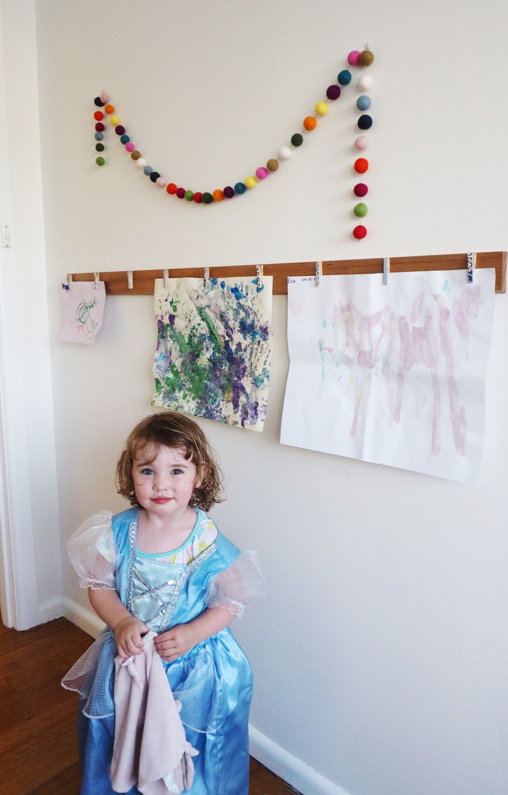 Baby girl loving her bedroom art wall display!