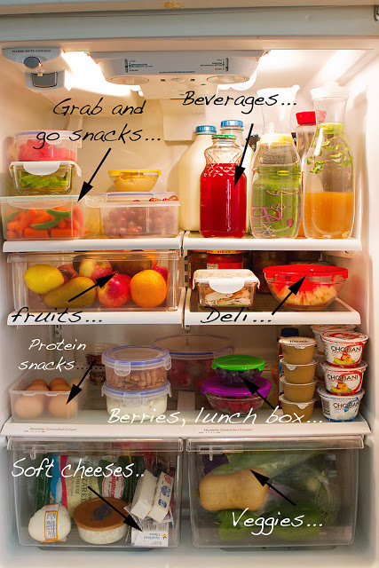 A well organised fridge encourages healthier eating and snack choices