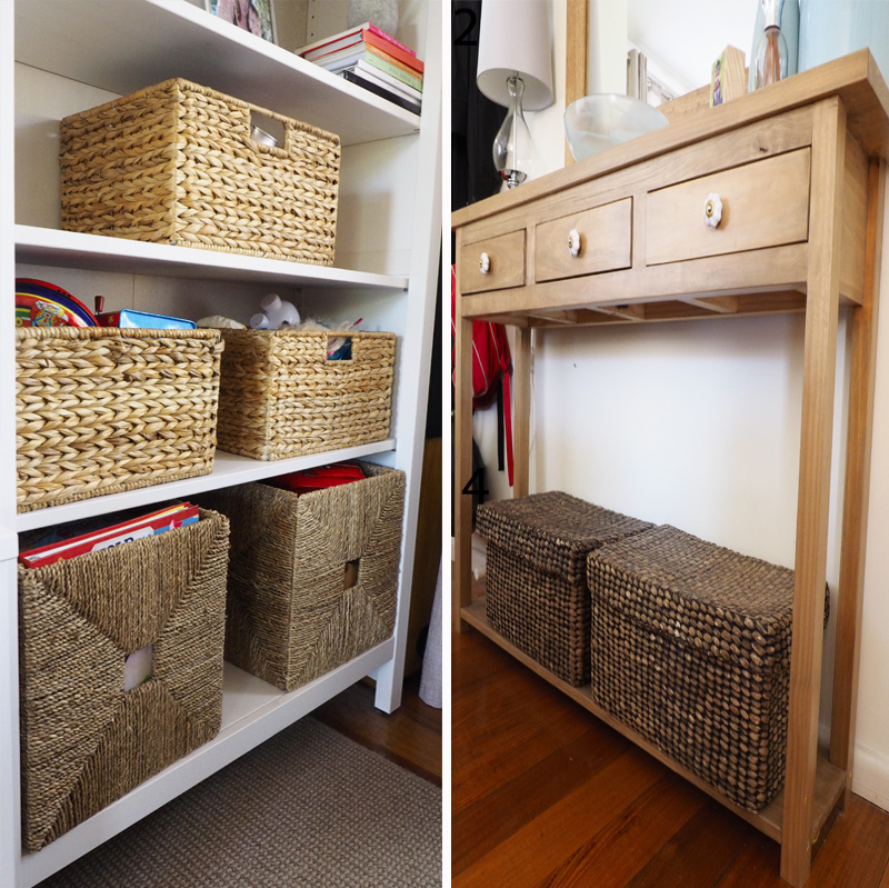 The great thing about wicker baskets is not only their functionality and durability, but they are also a stylish storage choice, so you're less likely to want to change them if your home decor style changes