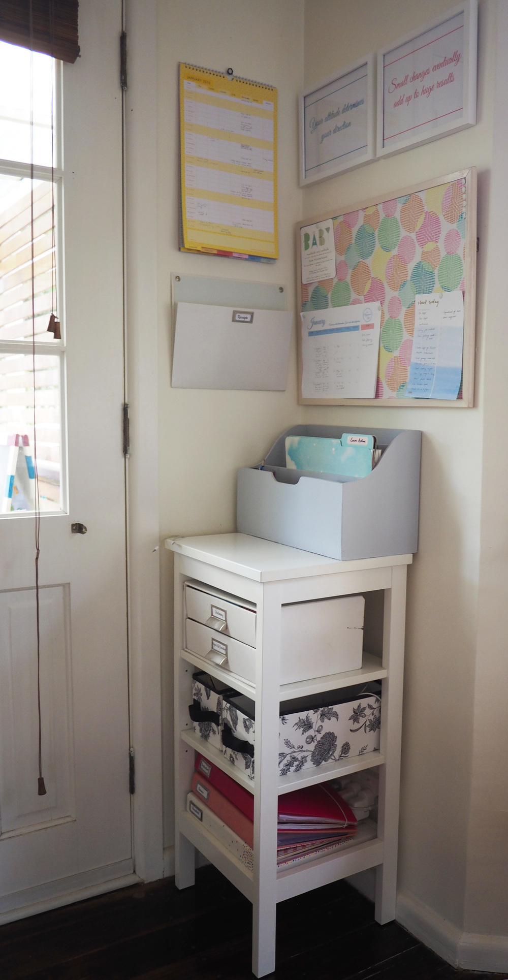 Set up workable paper systems in a family command centre to deal with the paper clutter