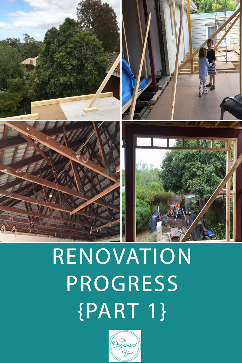 Renovation Progress {Part 1} - a look at the progress of our home renovation, and the journey we are on! With walls coming down and going up, creating an open plan living space, things are getting truly exciting! Click through to see the progress and what's coming up for this new home space!
