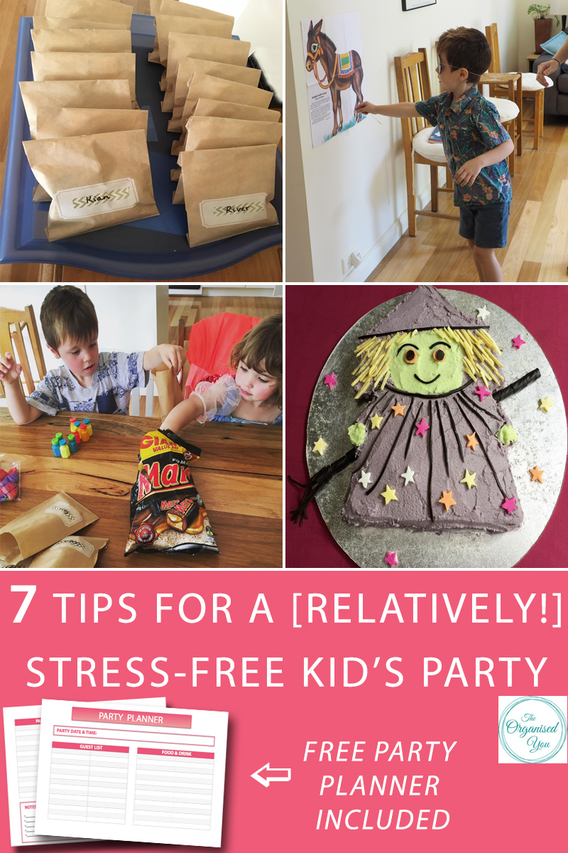 7 tips for a [relatively!] stress-free kids' party - a stress-free approach to throwing a party all comes down to good planning, delegating and pre-preparation. Being as organised as possible in the lead-up to the big day will save you so much time, stress and effort on the day. Click through to read my 7 top tips for holding a fun party, as well as access to your FREE party planner!