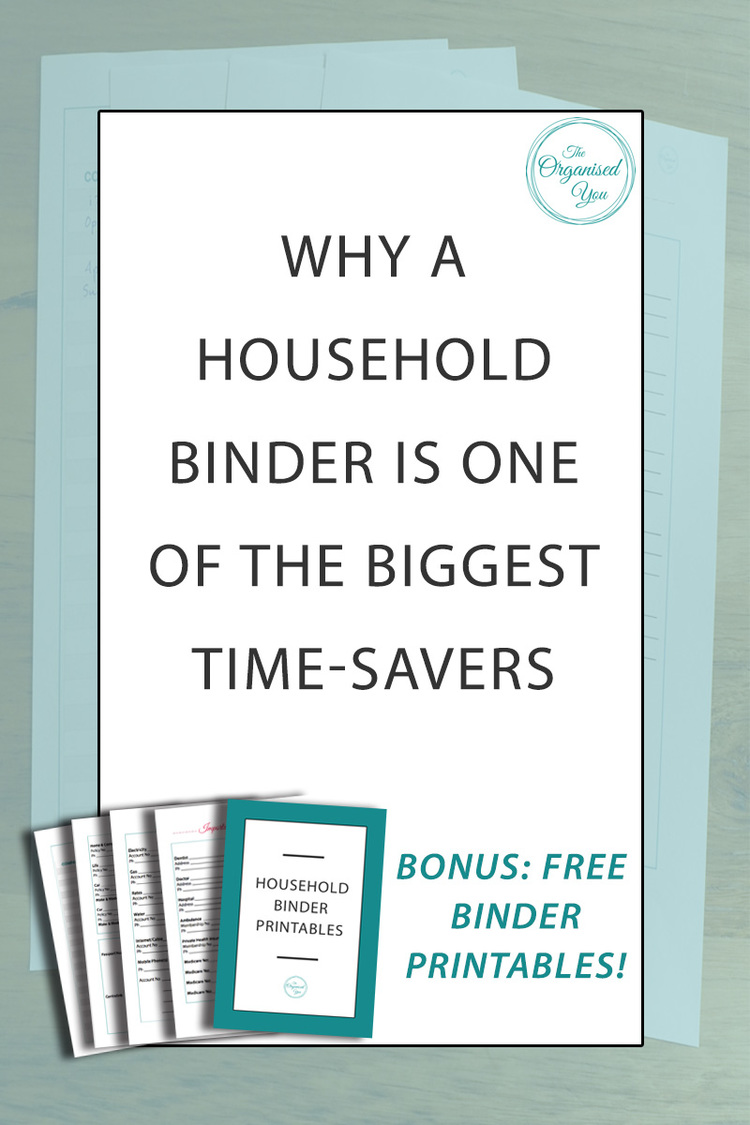 why a household binder is one of the biggest time savers blog home