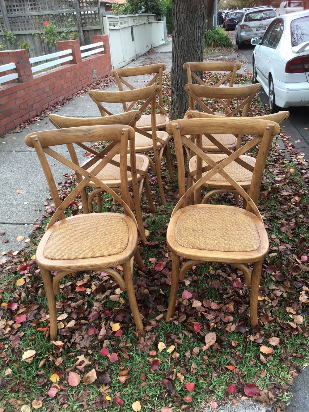 8 beautiful dining chairs scored from ebay!