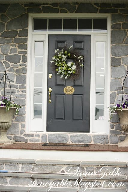 Dark grey front door