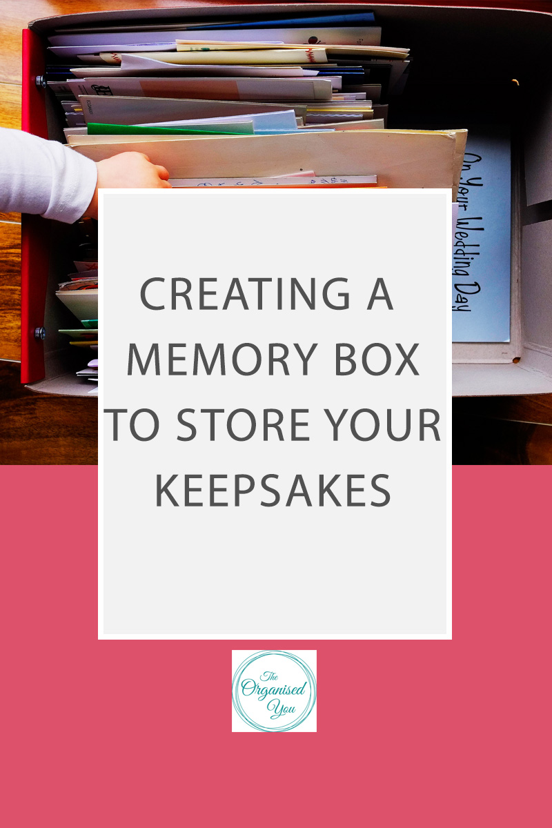 Creating a memory box for keepsakes
