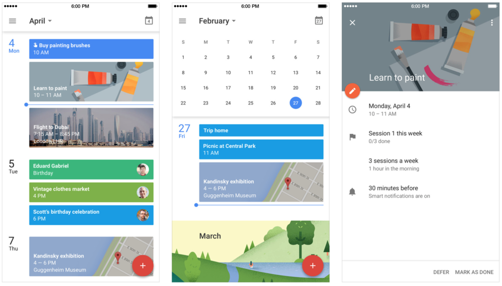 Google Calendar - an iphone app for increasing productivity and helping you stay organised