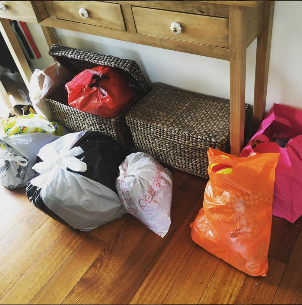 Sturdy plastic bags for decluttering - The Organised You