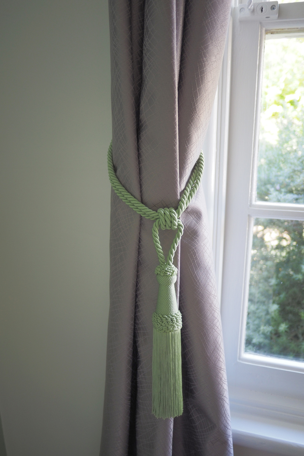 Bright curtain ties for   our son's bedroom makeover - The Organised You