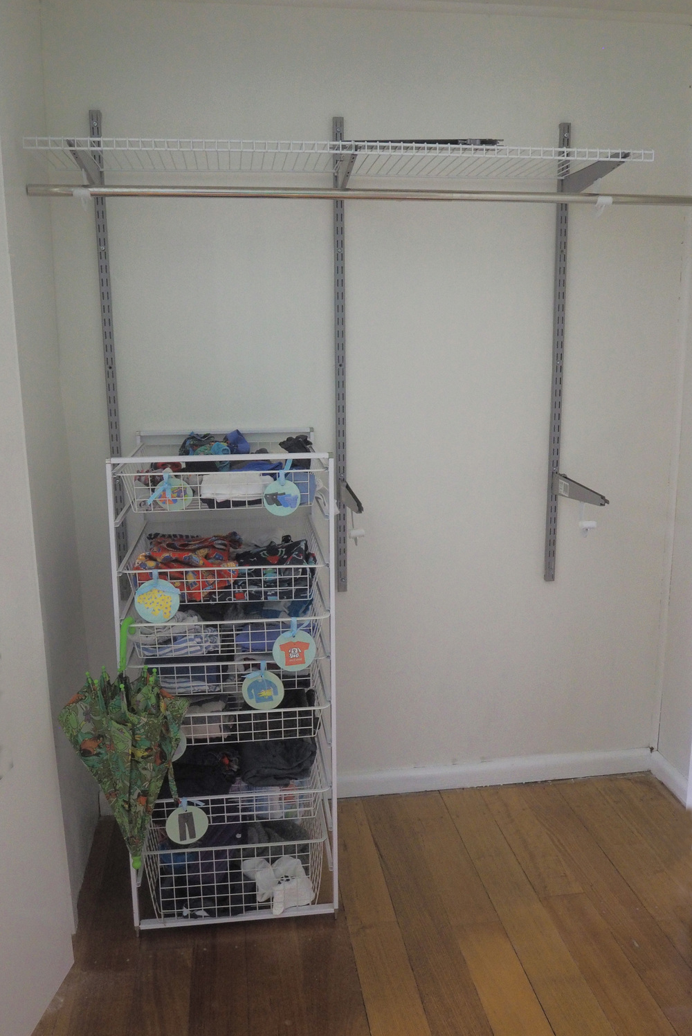 Creating a new wardrobe for our son's bedroom makeover - The Organised You