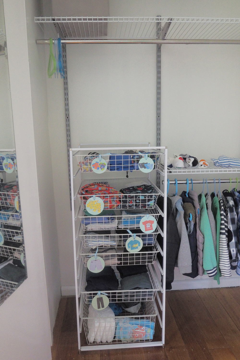 Organising kids' clothes in the wardrobe - The Organised You