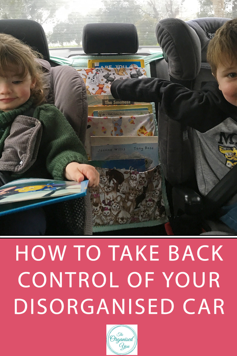 How to take back control of your disorganised car -  When life gets busy, one of the first places that can quickly get out of control is the state of your car. Especially if you have kids! It's time to take back control and get rid of the mess - click through to read the steps you need to take in order to get your car back in shape, and grab your free checklist of essential organising tools
