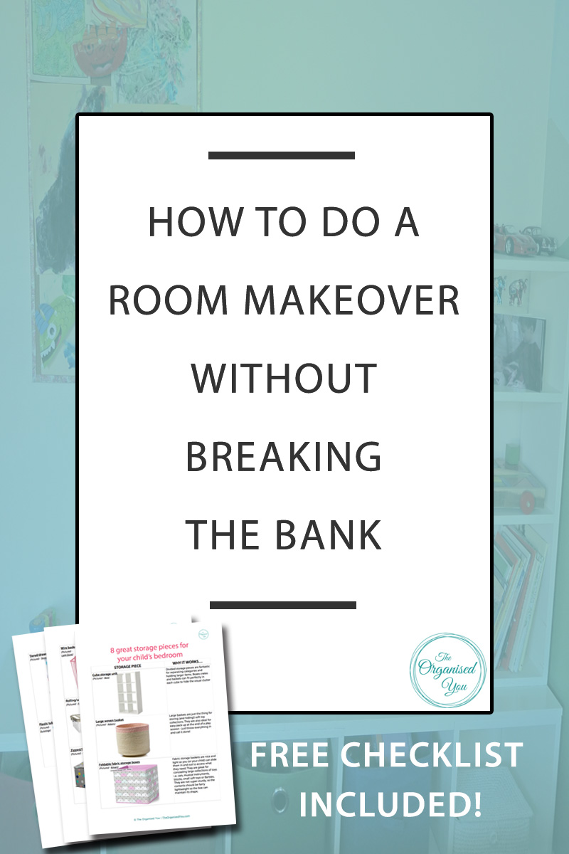 How to do a room makeover without breaking the bank - taking on a DIY project or entire room makeover doesn't have to cost a fortune - in fact, a furniture swap, a lick of paint and a few new accessories can breathe whole new life into a space. Click through to read the full makeover of our son's makeover and get your FREE checklist of the essential storage pieces for a child's bedroom
