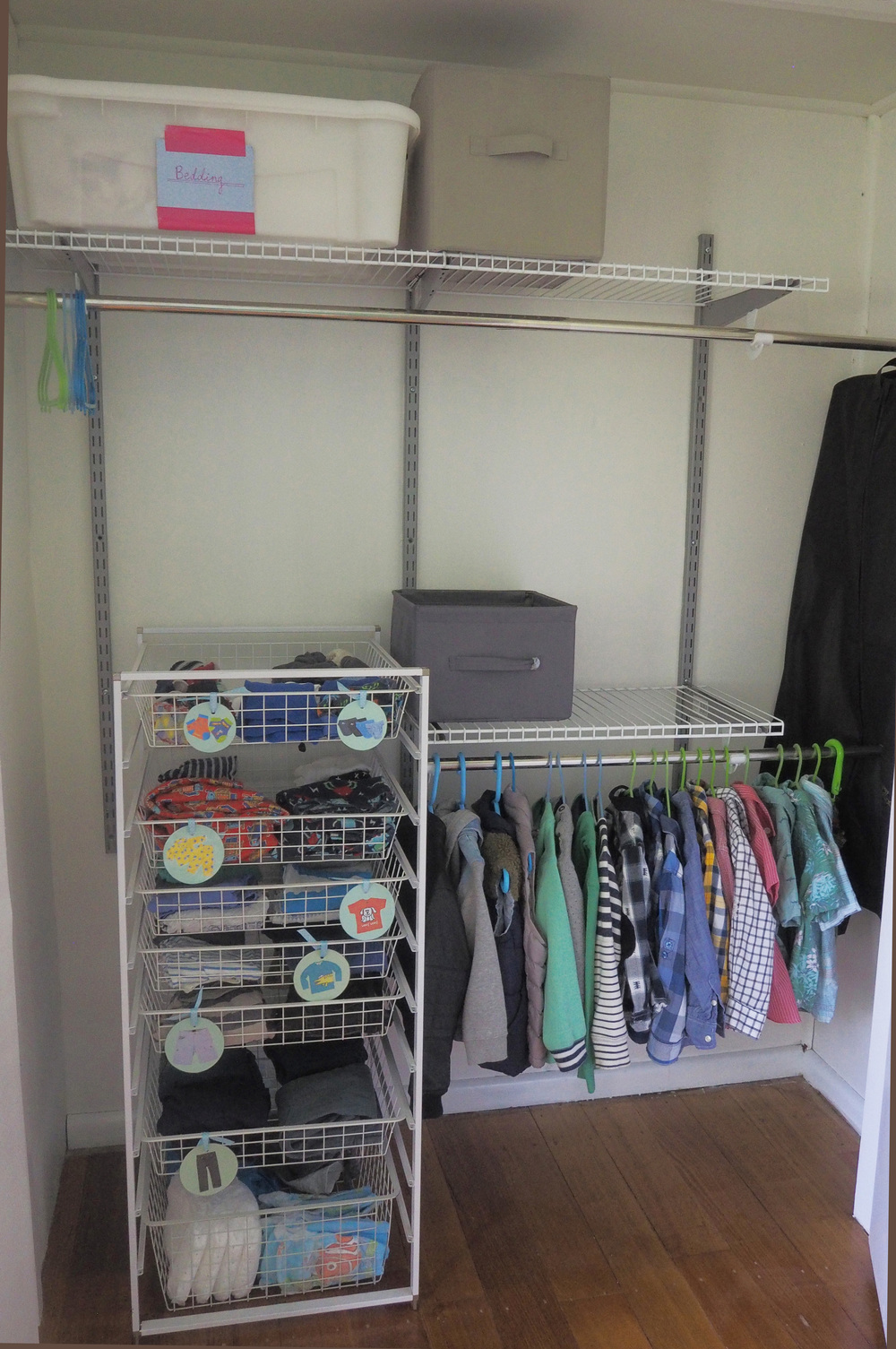Organising clothes in a child's wardrobe - The Organised You