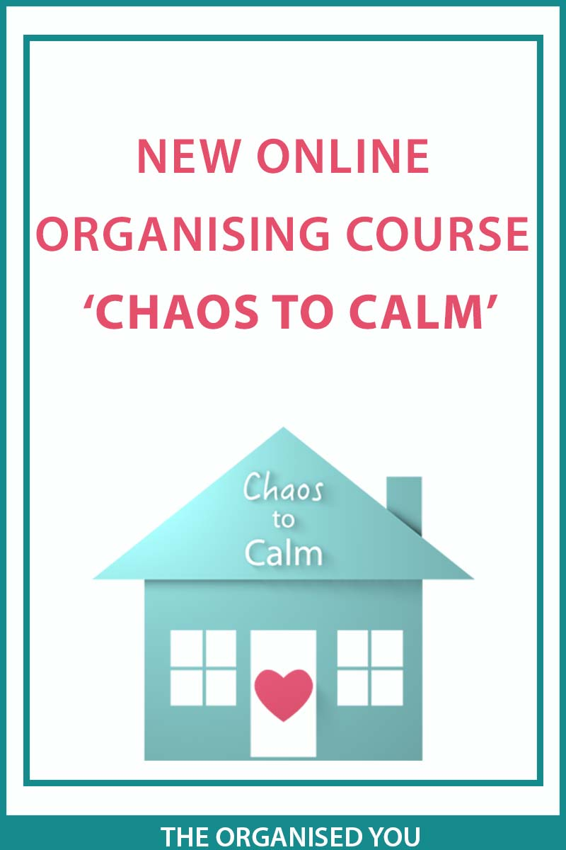 A new online course 'Chaos to Calm' The Organised You