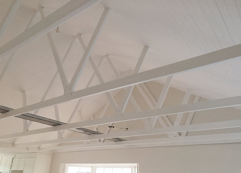 Exposed ceiling beams in our home renovation. - The Organised You