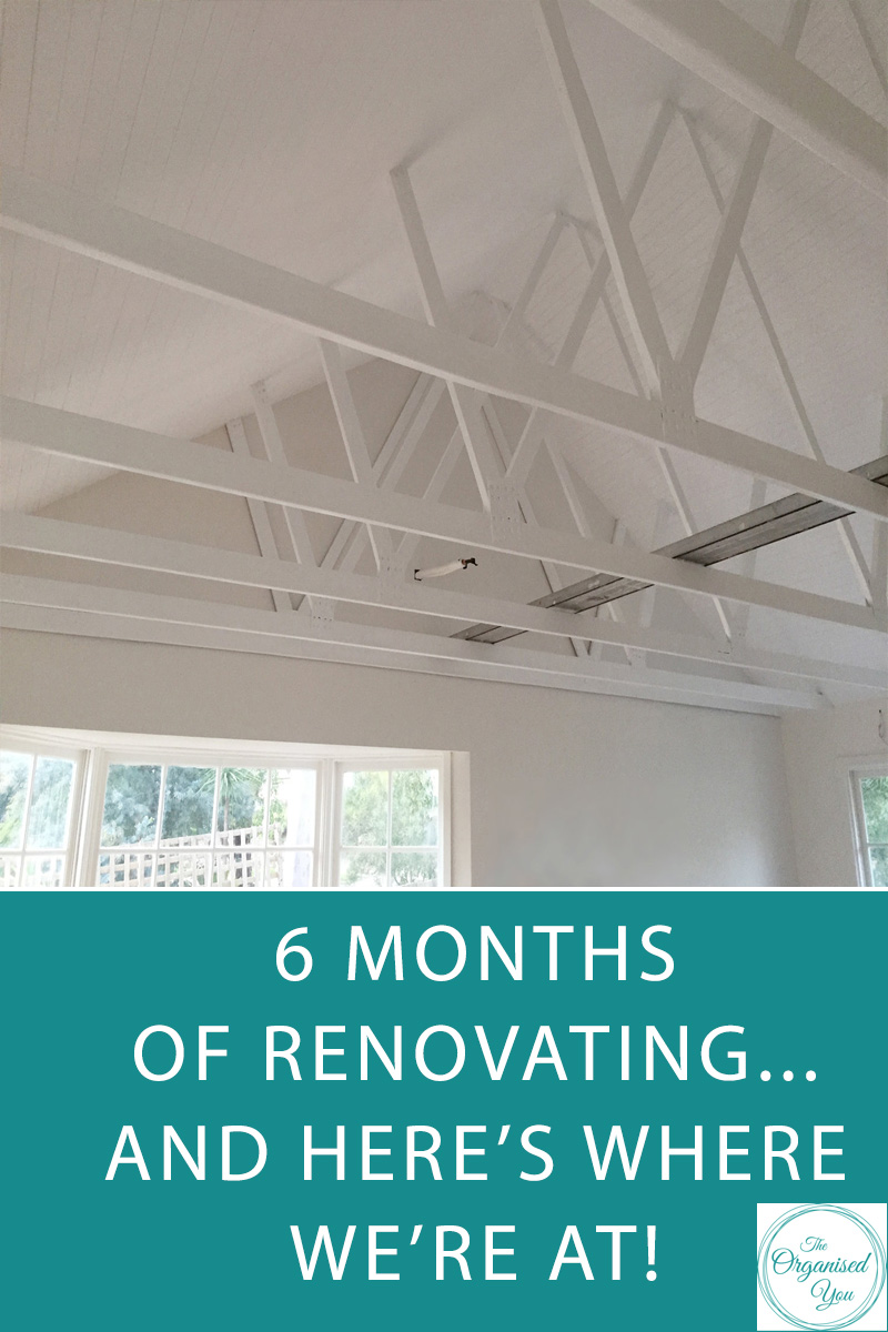 6 months of renovating... and here's where we're at! - in this blog post, I'm walking you through our newly renovated home - both the good parts, and the work that still lies ahead for us.  Have you ever been through a home renovation or home project? Click through to read the full post and let me know your experiences!