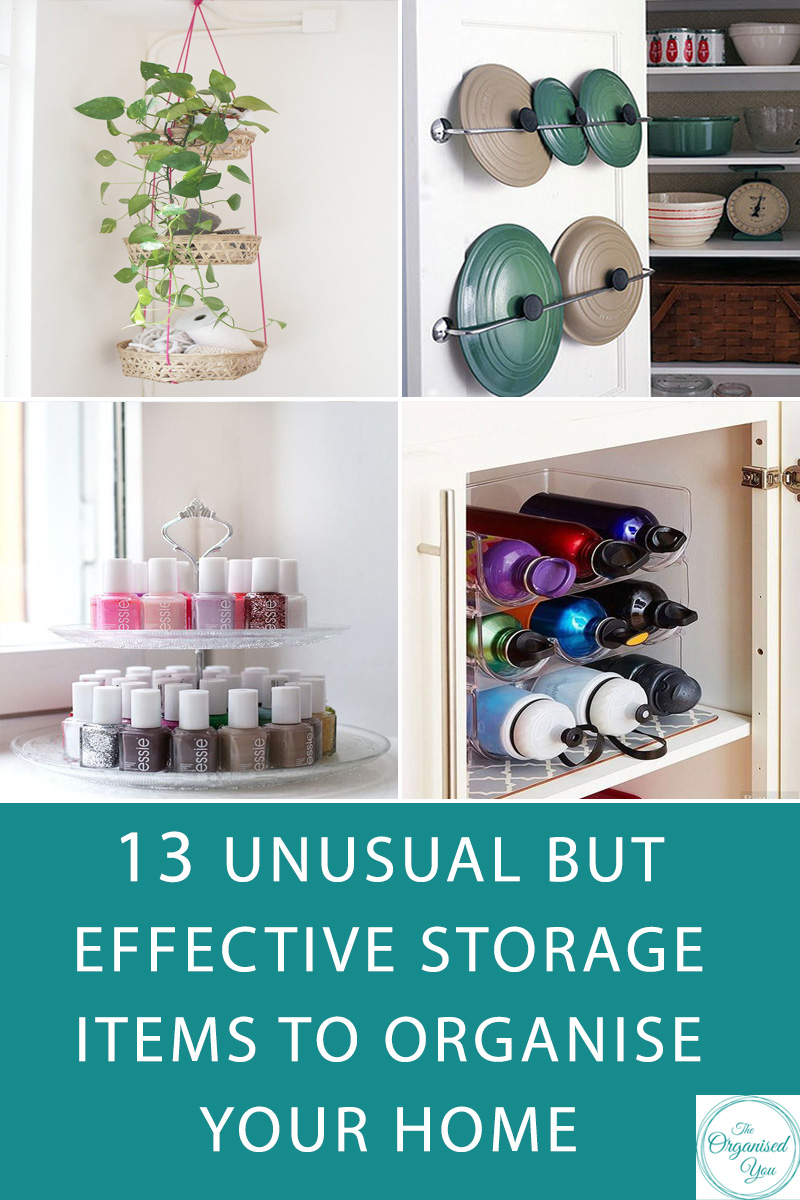 13 unusual but effective storage items to organise your home -  If you're searching for the perfect storage solution for a trouble-spot in your home, it might be   time to start thinking 'outside the bo  x'. When it comes to finding a cheap but effective storage solution,   sometimes the perfect item or product is something you would never have considered for that particular space  .   Click through to read the whole list of unusual but effective ideas for getting your home more organised!